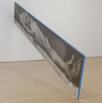 John Baldessari, Blue Line, 2010 [detail]